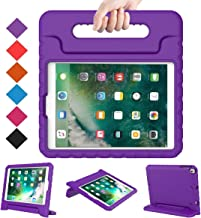 BMOUO Case for New iPad 9.7 Inch 2018/2017 - Shockproof Case Light Weight Kids Case Cover Handle Stand Case for iPad 9.7 Inch 2017/2018 New Model - Purple