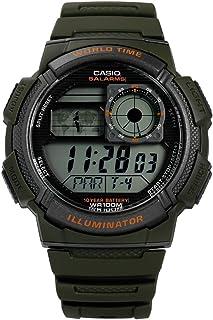ساعة كاسيو كابالرو للرجال بسوار من البلاستيك المطاطي - AE-1000W-3AVEF
