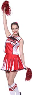 Fashoutlet Women's Cheerleader Costume Outfit (2 Piece)