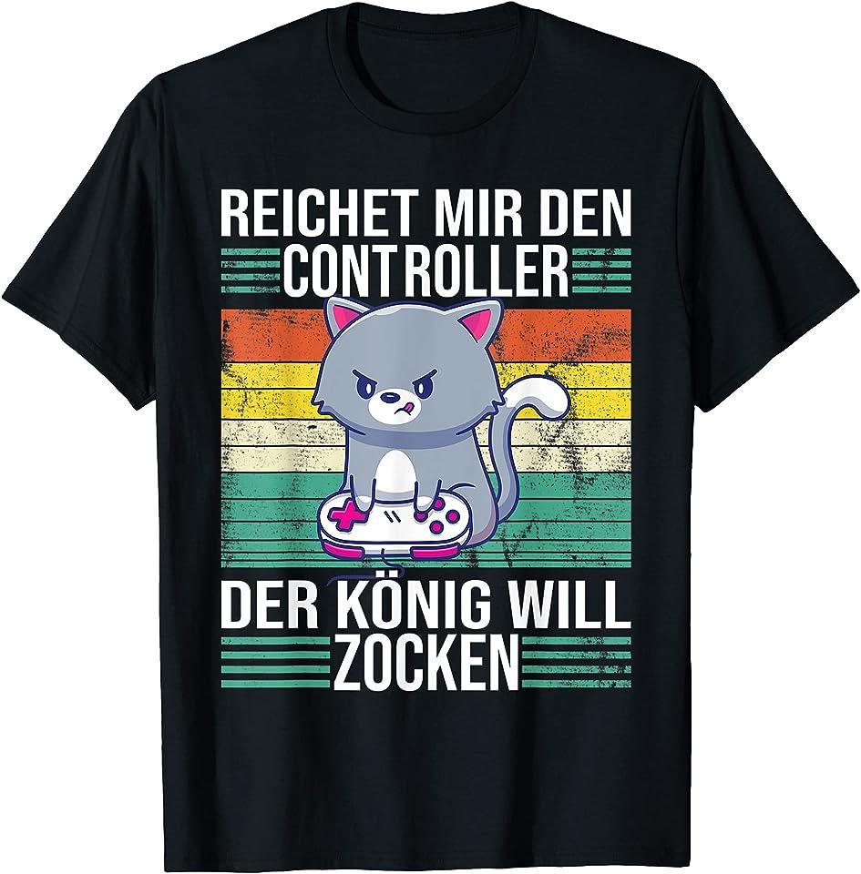 Zocken Reichet mir den Controller König PS5 Konsole Gamer T-Shirt