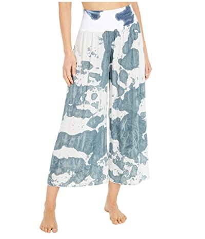Hard Tail Flat Waist Boho Capris (Vintage Cloud Wash # 2) Women