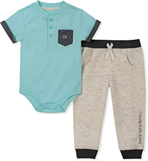 Baby Boys 2 Pieces Bodysuit Pants Set