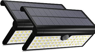 太阳能 STEP 墙灯户外 aluvee 折叠运动传感器 IP 65防水壁灯*无线适用于 YARD 室内门廊庭院 PATH 栅栏
