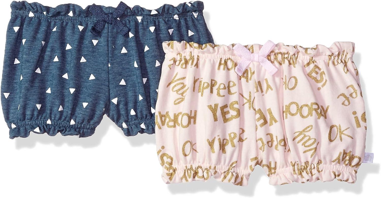 Rosie Pope Baby Newborn Girls 2 Pack Shorts