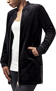 Urban Classics Ladies Long Velvet Jacket, Chaqueta Para Mujer