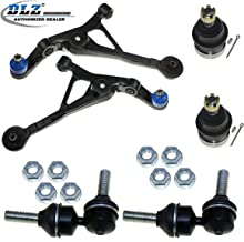 DLZ 6 Pcs Front Suspension Kit-2 Lower Control Arm 2 Upper Ball Joint 2 Sway Bar Link Compatible with Dodge Stratus 1995-2000