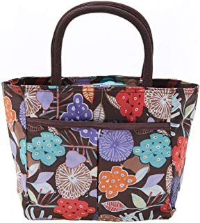 EZ Life Multi Compartment Carry Bag - Abstract Garden - Brown