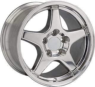 OE Wheels 17 Inch Fit Corvette Camaro ZR1 Style Polished 17x9.5 Rims SET