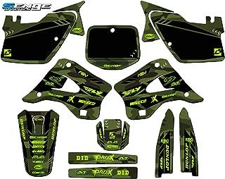 Senge Graphics kit compatible with Kawasaki 1996-1998 KX 125/250 (2-STROKE), Apache Green Complete Graphics Kit