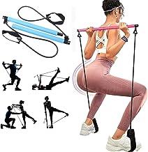 Draagbare Pilates Bar Kit met Resistance Band, Thuis Gym Pilates met Voet Loop voor Totale Lichaamstraining voor Yoga, Str...