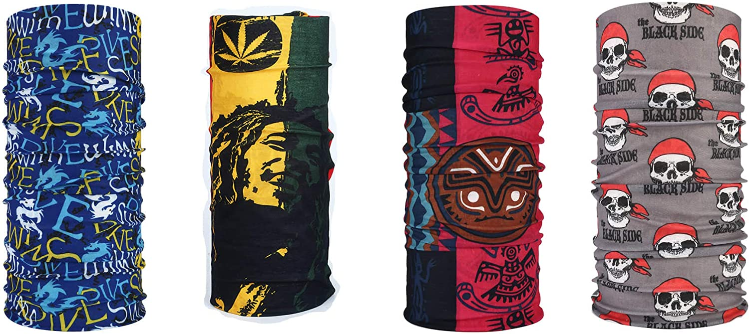 Super sale period limited 4 Pieces Face Scarf UV Protection Riding Neck Arlington Mall Gaiter Hea Outdoor
