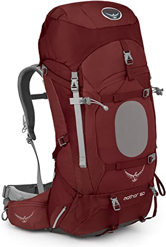 Osprey Aether 60Homme Backpack, Arroyo rouge, 86x 32x 31cm, 60L
