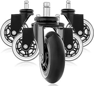 comprar comparacion Ruedas de goma de repuesto para sillas de oficina, diseño de ruedas de patín, silenciosas, perfectas para su...