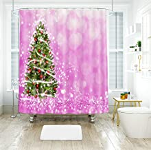 AMDXD Polyester Waterproof Shower Curtain 48x72Inch (120x180CM), Christmas Tree Shower Curtains 3D, Bathroom Decor with 12...