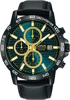 Lorus Sports Chronograph Leather Strap Men's Watch RM319GX9
