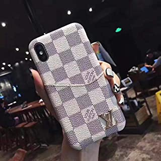 S.B.T.C. iPhone Cases Elegant Luxury Leather Designer Case with Card Holder Slot Cover for Apple iPhone X/Xs Xs Max (White, Xs Max)