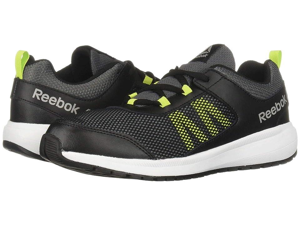 Reebok Kids Road Supreme (Little Kid/Big Kid) (Black/Alloy/Lime/White/Pewter) Boys Shoes