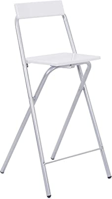 Link, 50901400, Sedia alta da bar, Bianco, bianco (weiß), mdf, metallo
