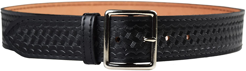 Safariland Duty Gear Garrison Chrome Buckle Belt (Basketweave Black, 36-Inch)