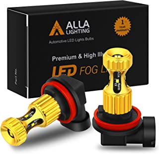 Alla Lighting H8 H11 LED Fog Lights Bulbs Newest ZES SMD 3000lm Extreme Super Bright DRL, 3K Amber Yellow