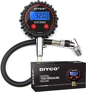 DIYCO D1 Elite Series Digital Tire Pressure Gauge   5-200 PSI   Professional Grade