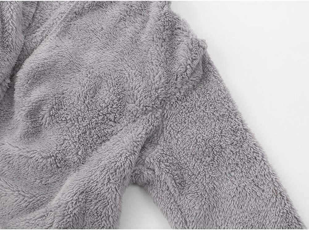 TOPKEAL Jacke Mantel Damen Herbst Winter Sweatshirt Warm Steppjacke Kapuzenjacke Hoodie Pullover Outwear Coats Mode Tops Grau