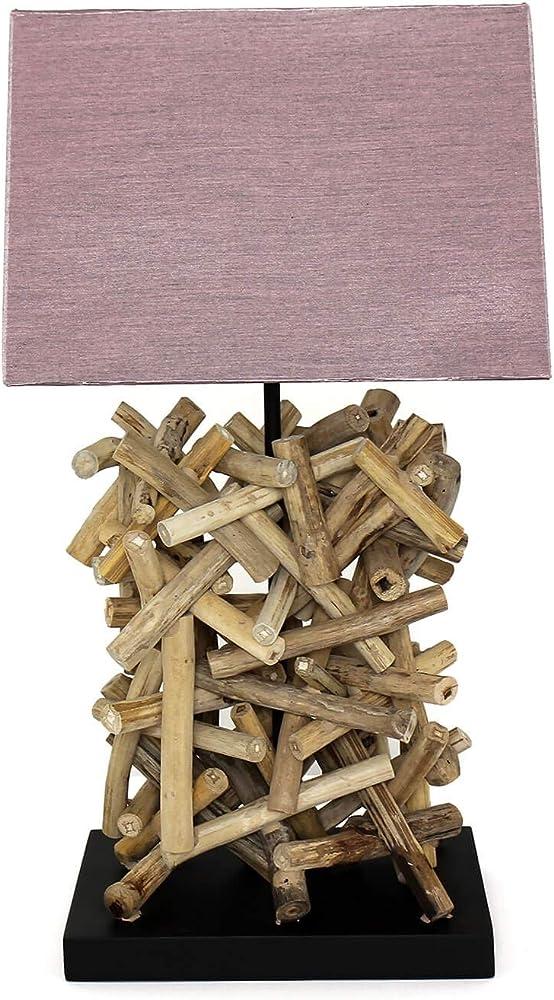 Lampada da tavolo con paralume in tessuto decorativo fatto a mano SU151-101-14