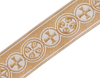 Medieval Crosses in Circle Church Vestment Trim 1.5