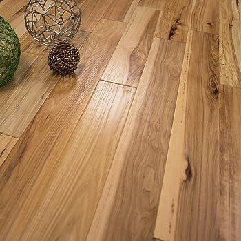 """Engineered Hardwood Wood Flooring Hickory Sample 7 1//2/""""W 74 3//4/""""L Garette OnSale"""
