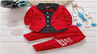 Oullah Baby Boy Suit Red
