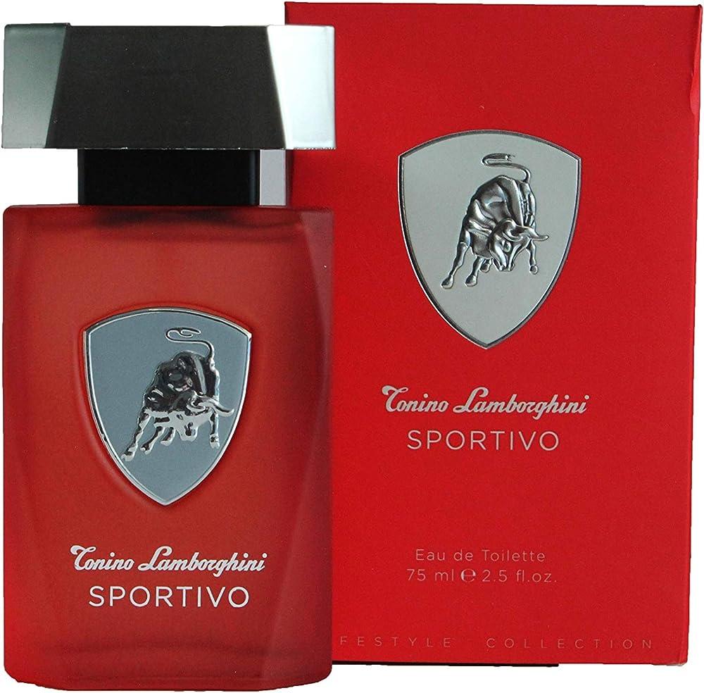 Lamborghini sportivo by tonino lamborghini ,eau de toilette per uomo, spray,75 ml 551274
