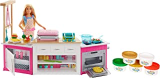 ​Barbie Kitchen Playset with Doll, Lights & Sounds, Food...