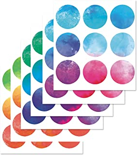 PARLAIM Rainbow Multi Size Kids Wall Stickers, Peel and Stick Dot Decals Polka Dot Wall Decals for Kids Room, Living Room, Bedroom, Classroom Decorations Multicolor (3 inch X 54 Circles)
