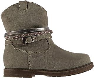 Miso Suzie Western Boots Infants Girls Grey Shoes Boot Kids Footwear