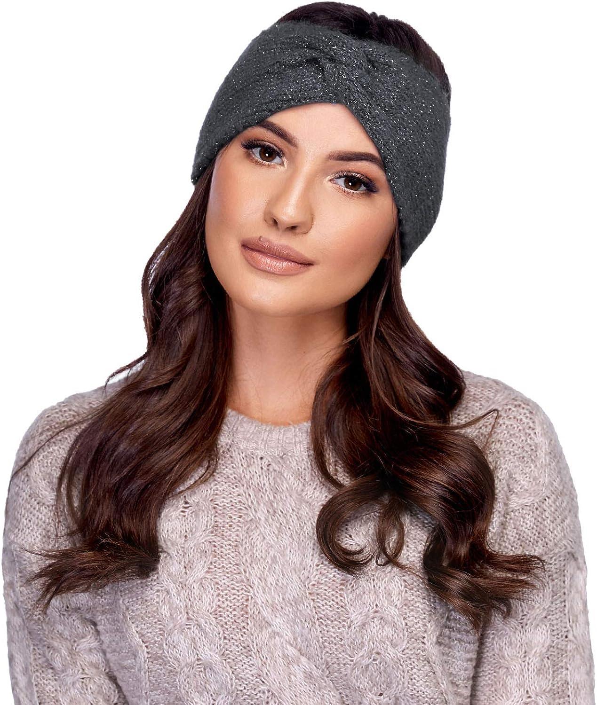 Carmen Smooth Classic Autumn Headband S-02, Dark Grey,One Size