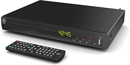 MAJORITY Towers Compact DVD Player, Multi-Regions 1/2/3/4/5/6, USB port, Remote Control, RCA Audio Cable for TV connect, HDMI port, Coaxial port (Black)