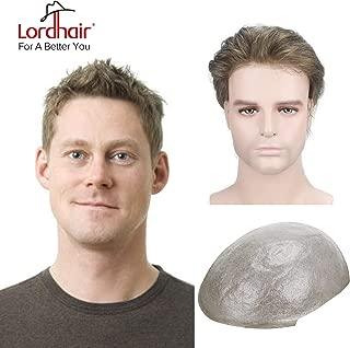Lordhair Toupee Thin Skin Men's Toupee Real Human Hair Pieces for Men Color #7 Toupee For Men (6 Colors Available)