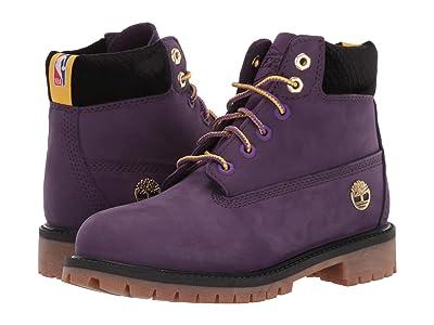 Timberland Kids 6 Premium Waterproof Boot Los Angeles Lakers (Little Kid) (Medium Purple Nubuck) Kid