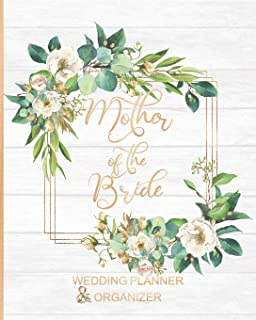 Mother of the Bride Wedding Planner & Organizer: Large Roses Wedding Planning Organizer | Seating charts | Guest Lists | Detailed worksheets | Checklists and More