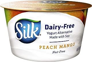 Silk Dairy Free Yogurt Alternative, Peach and Mango, Made withSoy, Vegan, 5.3 oz