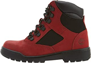 "Timberland 6"" Field Boot L/F Big Kids' Shoes Red tb0a1rg5"
