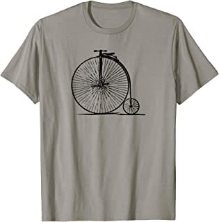 Old School Penny Farthing High Wheel Bike Bicycle Vintage T-Shirt