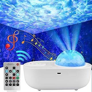 ANVAVA Proyector Estrellas Lámpara Proyector Infantil LED Luz Proyector Bebé con Control Remoto y Bluetooth Música 10 Modo...