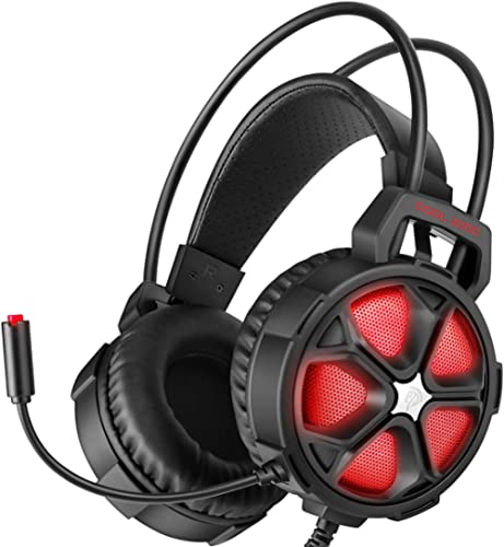 EasySMX Gaming Headset Xbox One Headset with Surround Sound Stereo, PS4 Headset with Mic & LED Light, Compatible with...