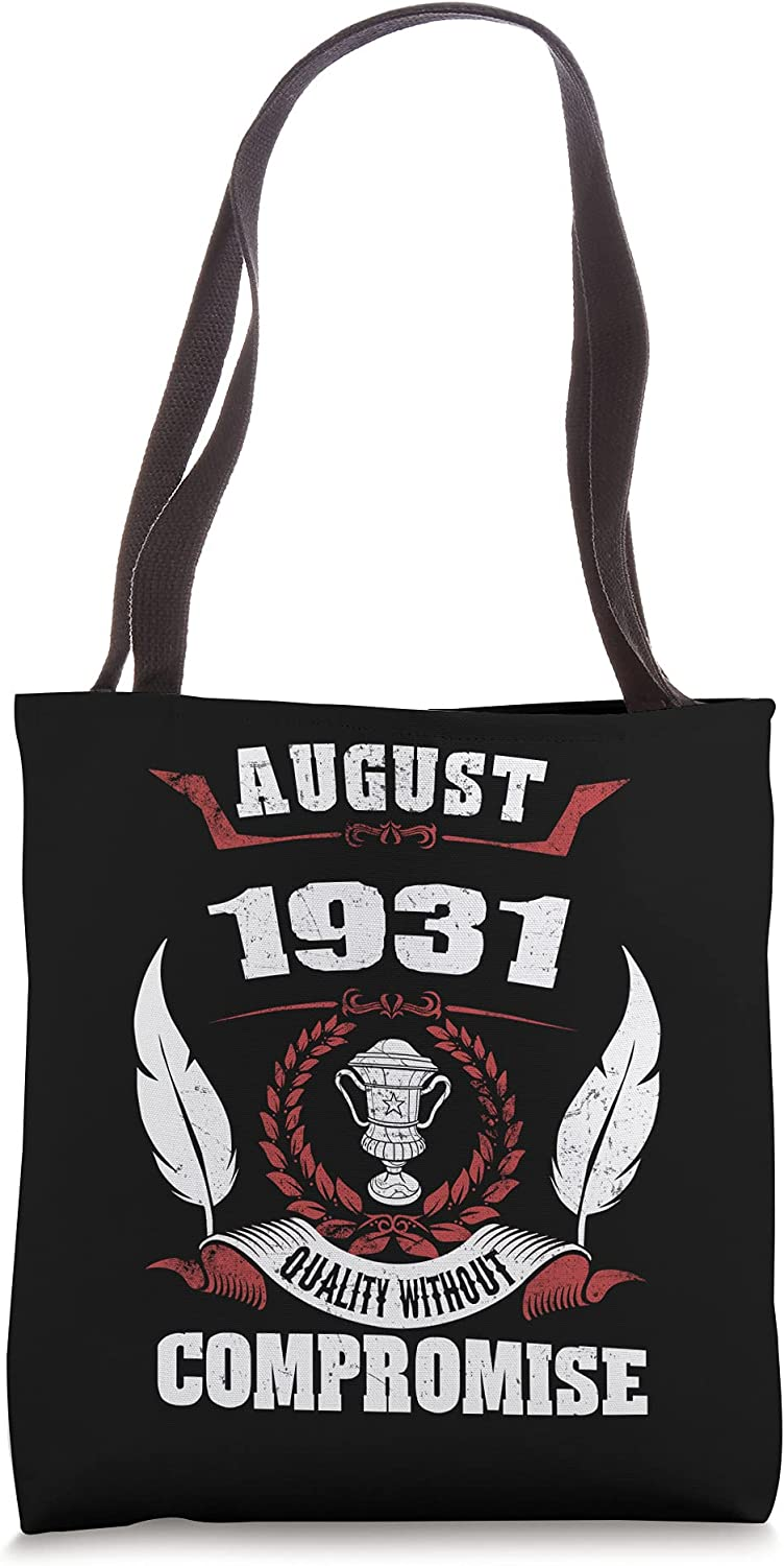 Birthday 365 August 1931 Vintage Max 79% OFF Tote Gifts B Men Women Limited time for free shipping