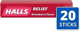 Halls Strawberry Cough Drops - with Menthol - 180 Drops (20 sticks of 9 drops)