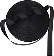 #NA ZOEYES 1 Inch Heavy Duty Polyester Webbing 50 Yards Black Strapping Webbing, Heavy Climbing Flat Strap, Great for Dog ...