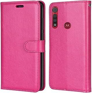 Laybomo Carcasa para Motorola G8 Play/One Macro Tapa Funda Cuero Estilo-Sencillo Monederos Billetera Bolsa Magnética Prote...