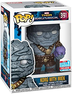 Funko 30763 POP Bobble: Marvel: Thor Ragnarok: Korg w/Miek, Multi, Standard