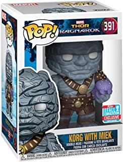 Funko Pop! Marvel Thor Ragnarok Korg with Miek Fall Convention Exclusive Figure
